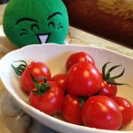 徳島県のゆるキャラ「すだち君」が原田トマトに遊びに来てくれました!