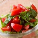 【簡単レシピ】フルーツトマトとバジルのサラダ